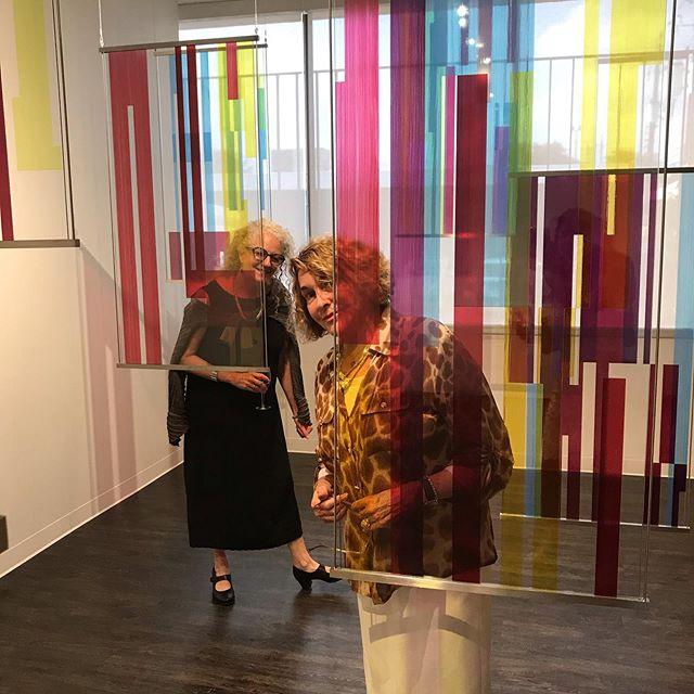 Luminous coloured glass lifts my Soul. Margo Sawyer's opening at Littlejohn Fine Art gallery. #margosawyer #nancylittlejohnfineart #artistssupportingartists #stainedglassart #luminous