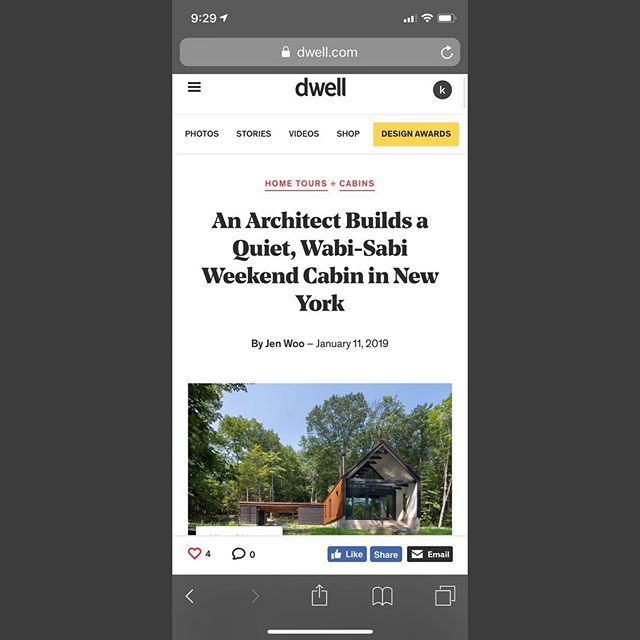 Check out our Pond House project in Dwell !  Link in bio !! #catskillscabin #dwell #dwellmagazine #pondhouse #pondhouseny #wabisabi #moderncabin #upstatenewyork #catskills #cabinporn #modernism #architecture #modernarchitecture #cabin #cabinlife #cabins #cabininthewoods