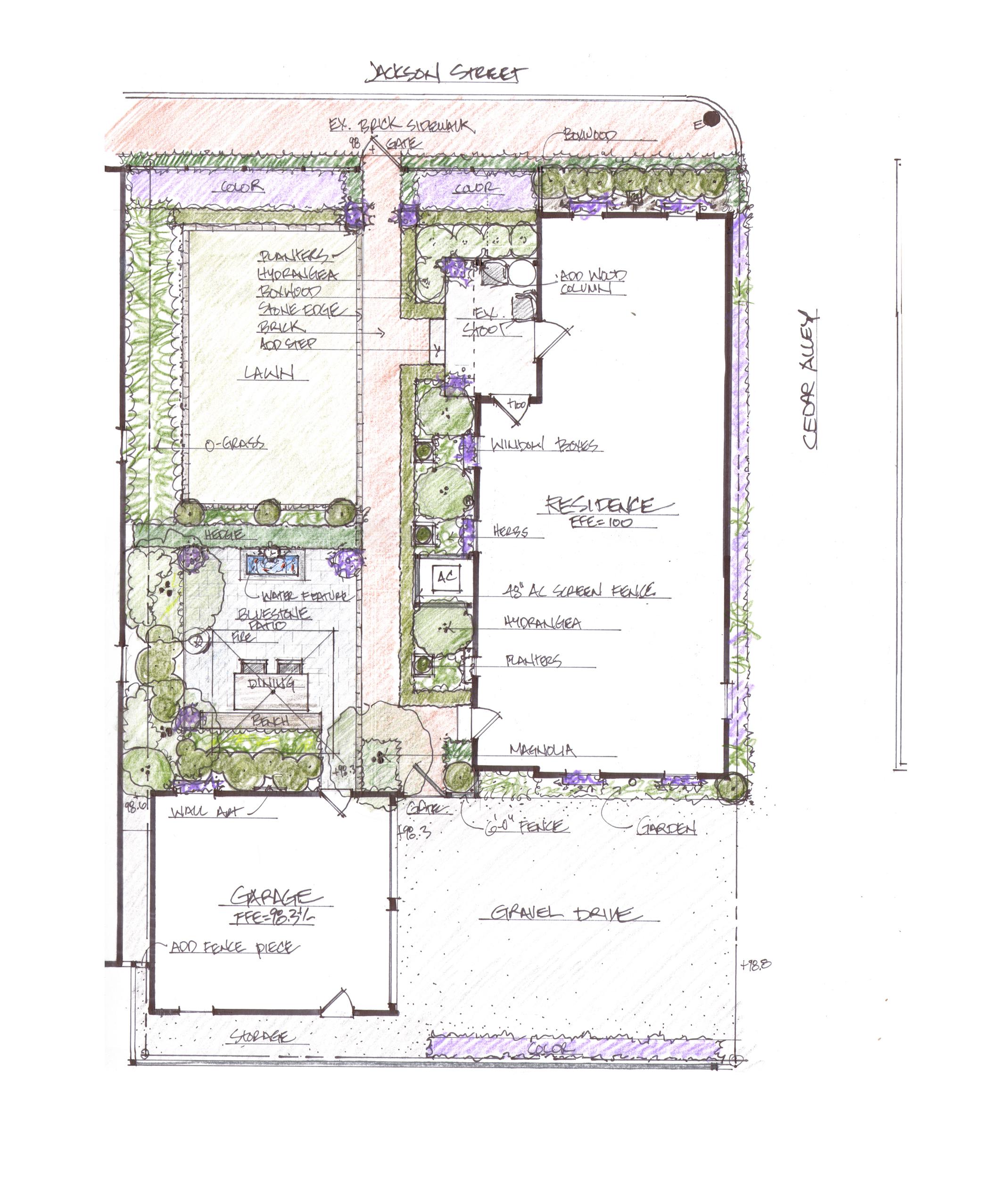 Cottage Garden Outdoor Space Design