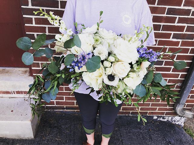 When the brides vision perfectly matches us as a floral shop, magic happens! #srrbride #shesbasicallyfamily #anemones