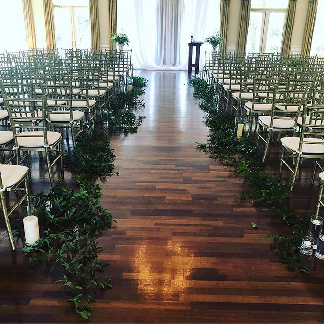 Greenery aisle ways are a fan favorite #charlotteweddings #weddingflorist #srrbride #wecandoupanaisle