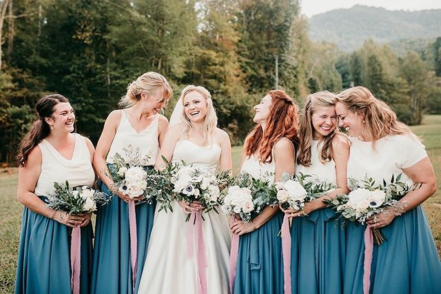 How could you not love a fabulous group of bridesmaids?? #srrbride #swvaweddings