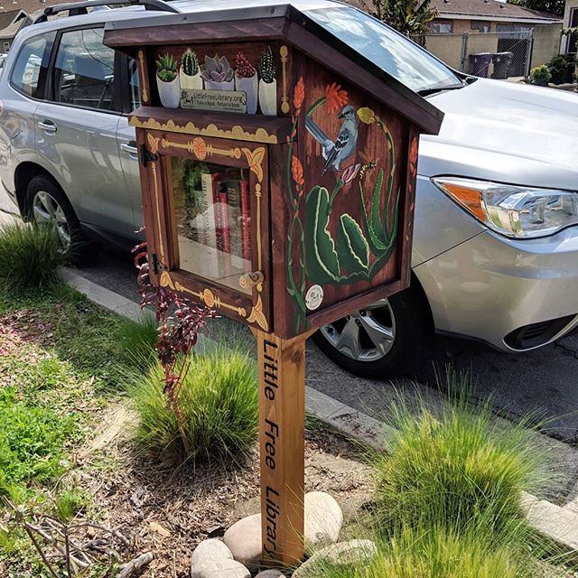 Our #littlefreelibrary is open for lending! The unveiling event is at 3pm at our house. Ribbon cutting and other such things.
