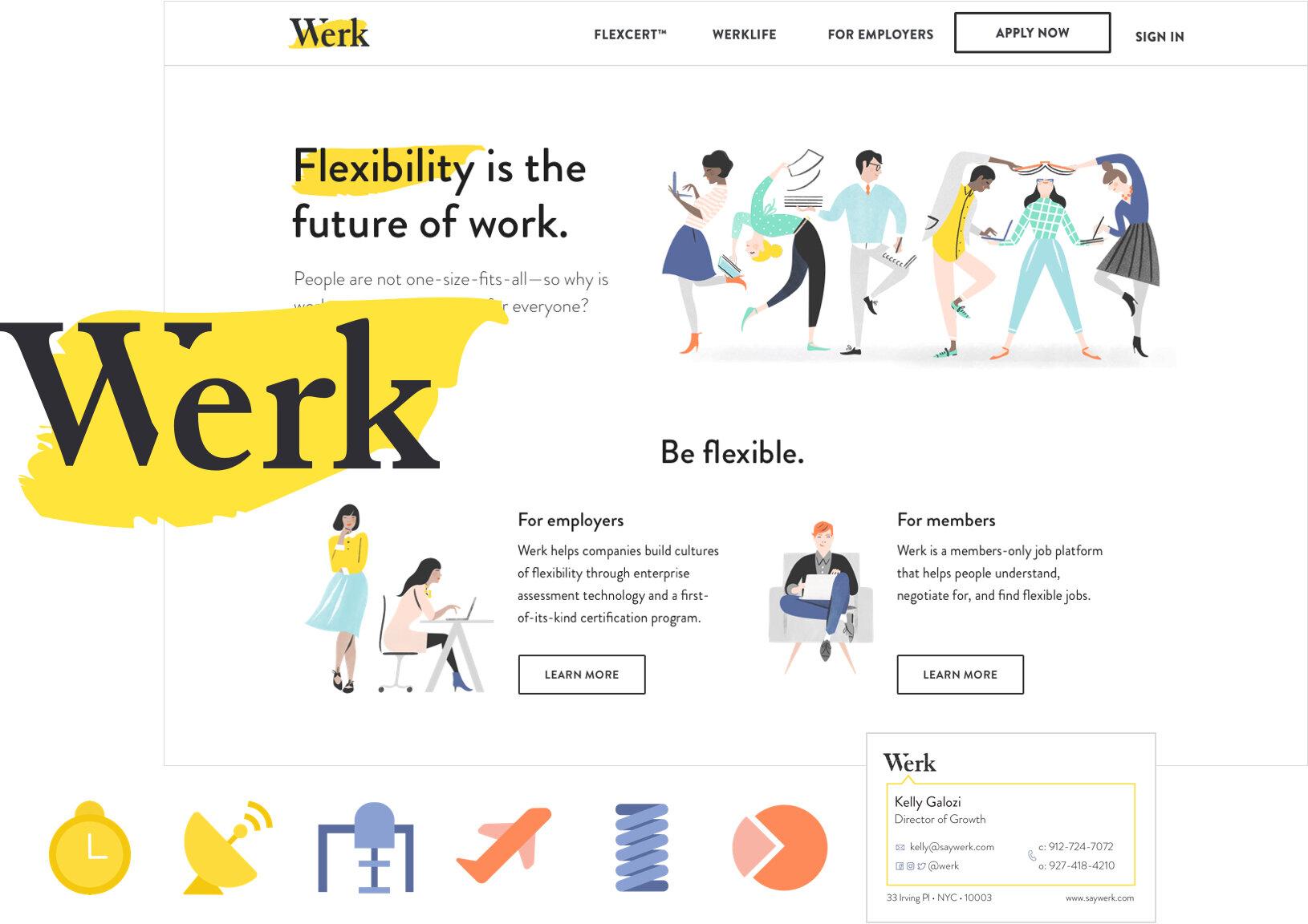 Original Werk branding geared toward women in the B2C space