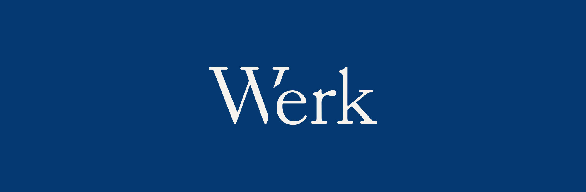 I redrew the original logo but decided to keep a likeness of the original to preserve the brand legitimacy Werk had already achieved