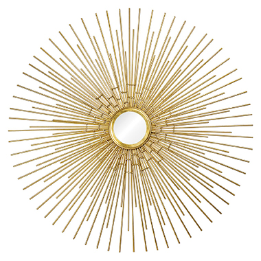 Phoenix Mirror - Gold Leaf metal mirror. Perfect piece to accent any wall of your home.Mirror: 5