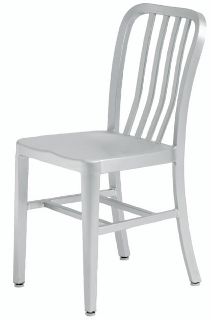 Soho Chair - Engineered to be used for years to come indoors and outdoors with its anodized aluminum frame. This classic inspired dining chair is constructed using a solid brushed aluminum tube frame with welded joints. The seat is also given a formed seat with a slightly curved backrest for optimum comfort.Also available as a counter stool
