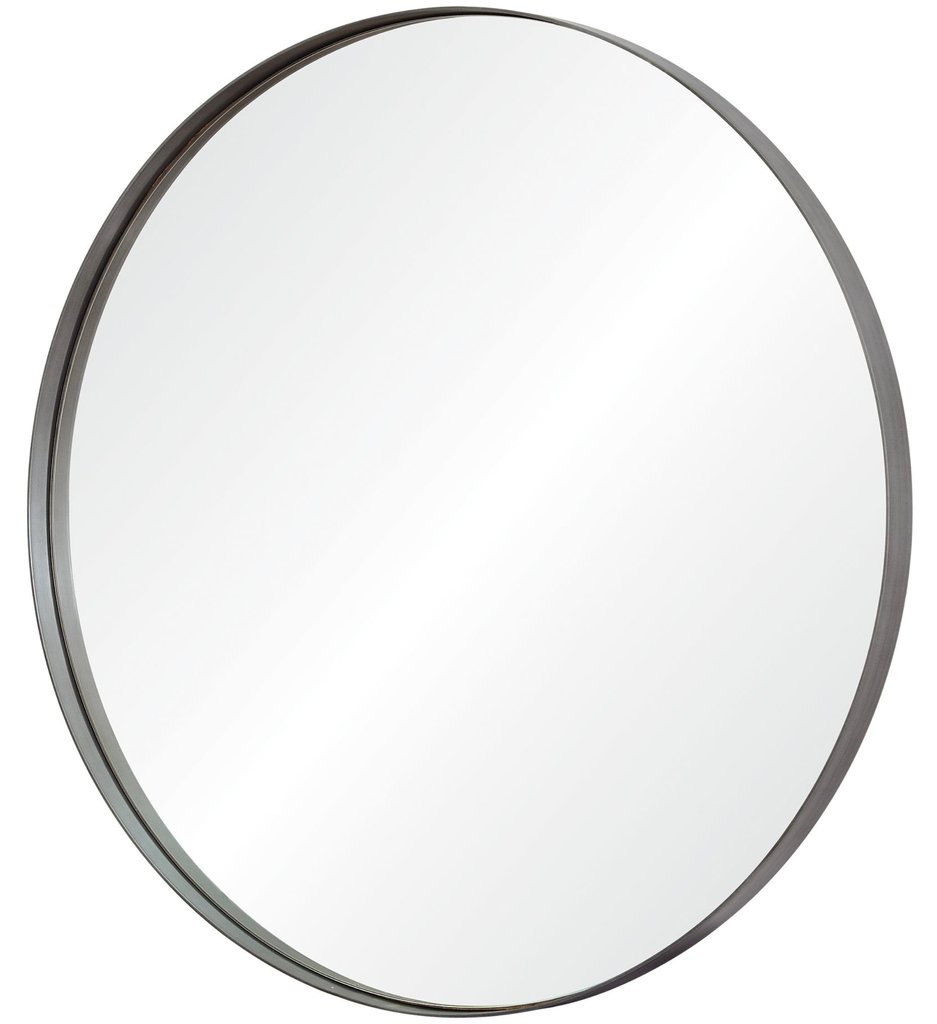 Lester Mirror - Iron frame - Antique brushed silver finish Dimension: 30
