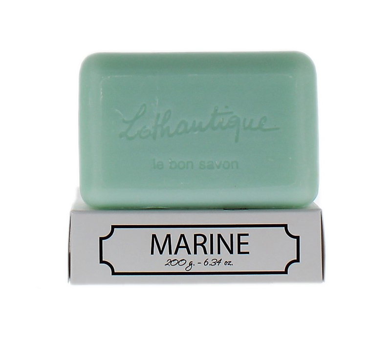 Lothantique Bar Soaps - These long lasting French-milled, and vegetable dyed soaps enriched with shea butter are perfect for any skin type.Available scents: Green Tea, Grapefruit, Marine, Verbena, Milk, Lavender