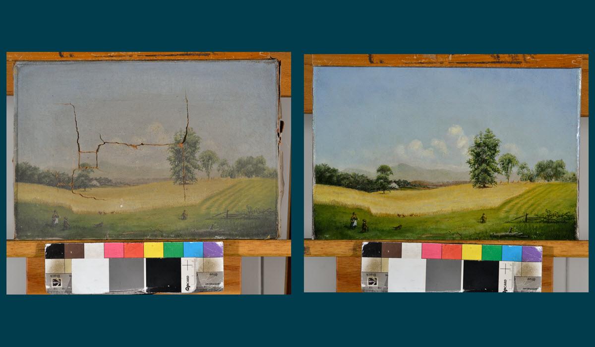 Golden Field by an Unidentified Artist