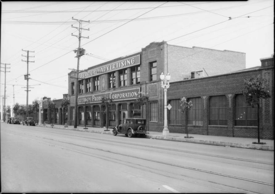 The Electrical Products Corporation on 16th Street in LA, by USC Archives