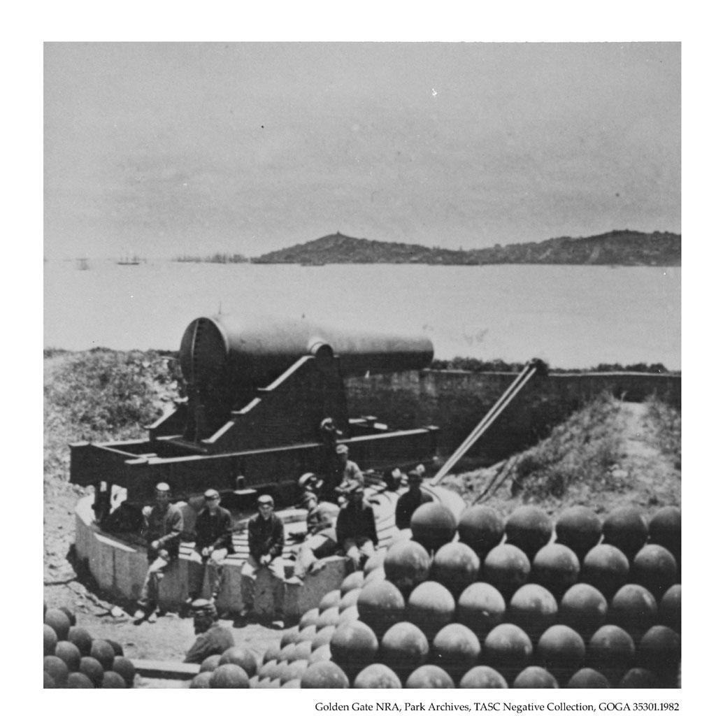 Battery McClellan on Alcatraz, 1868