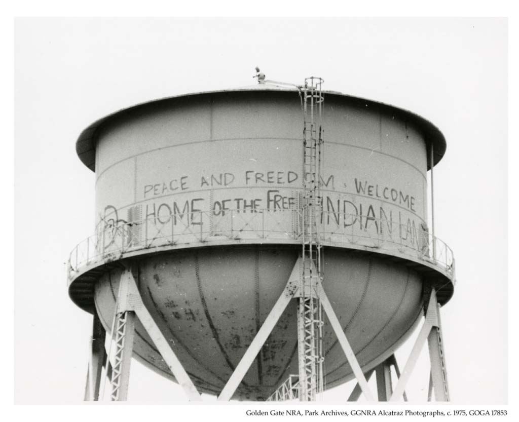 Indian Occupation of Alcatraz Graffiti, 1970