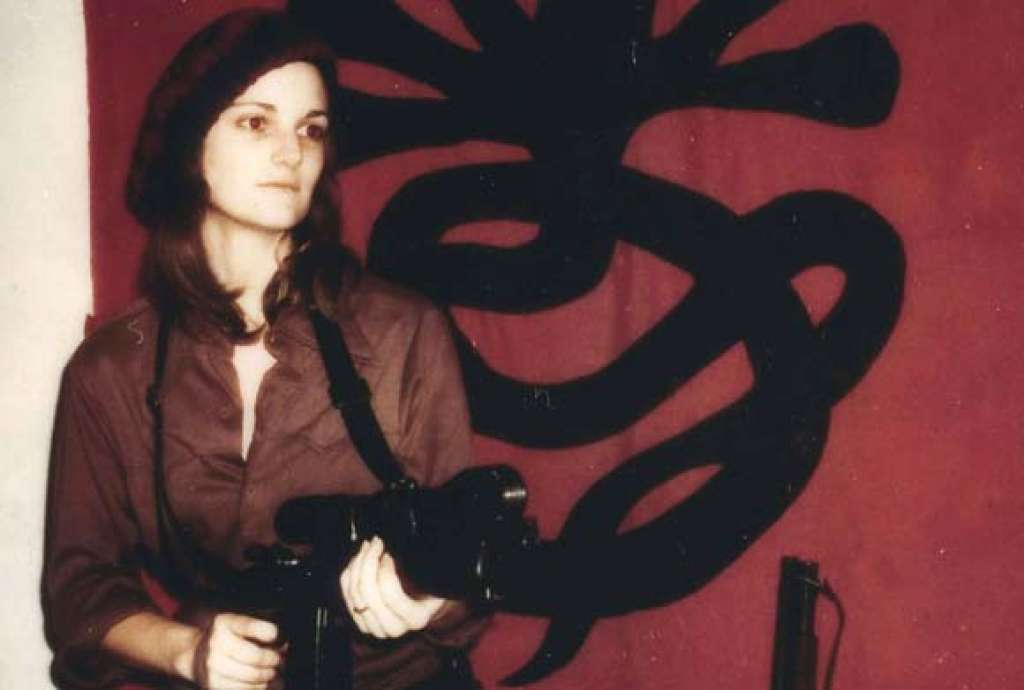 "The image of Patty Hearst they attached. ""One of us..."""