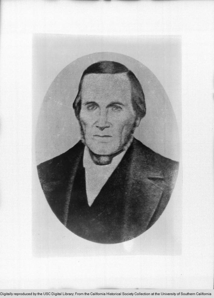 Sketch of William Wolfskill, courtesy of OC Archives