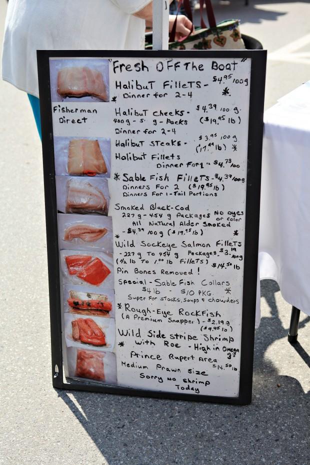 vancouver farmers market fish