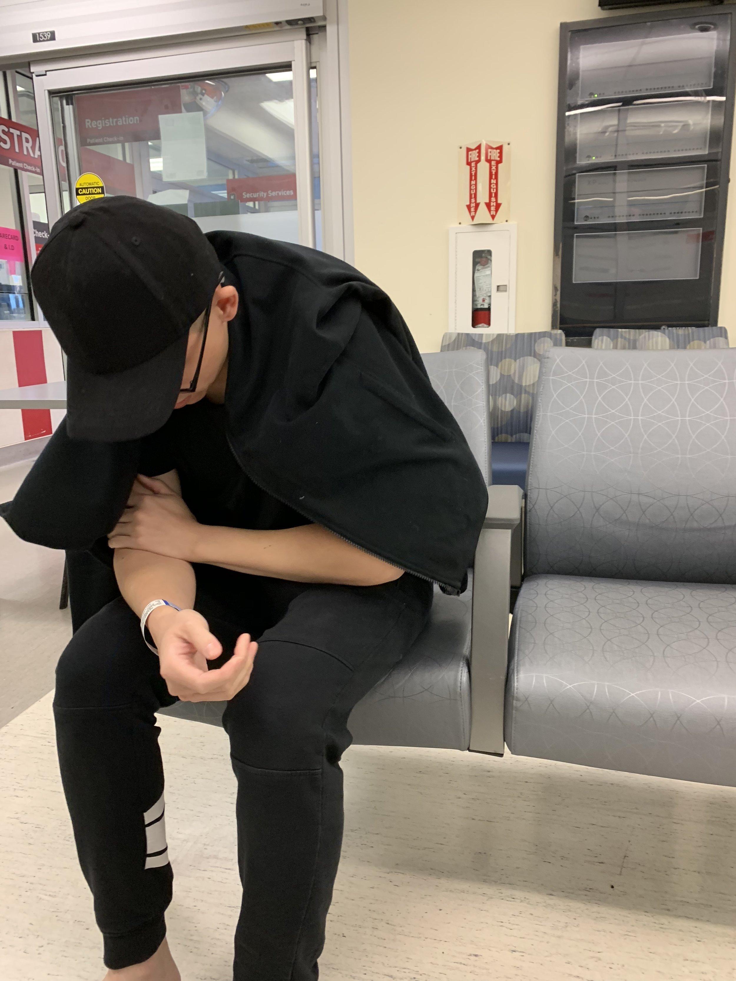 At the waiting room at the Richmond hospital
