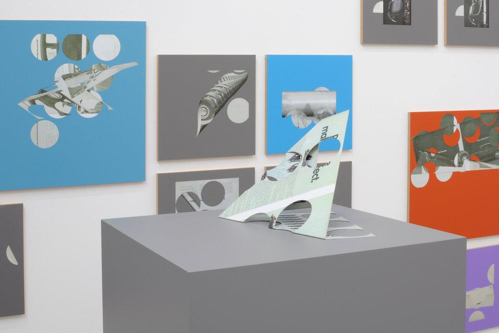 Kelley Walker, Catherine Bastide gallery, Brussels, 2012, exhibition view