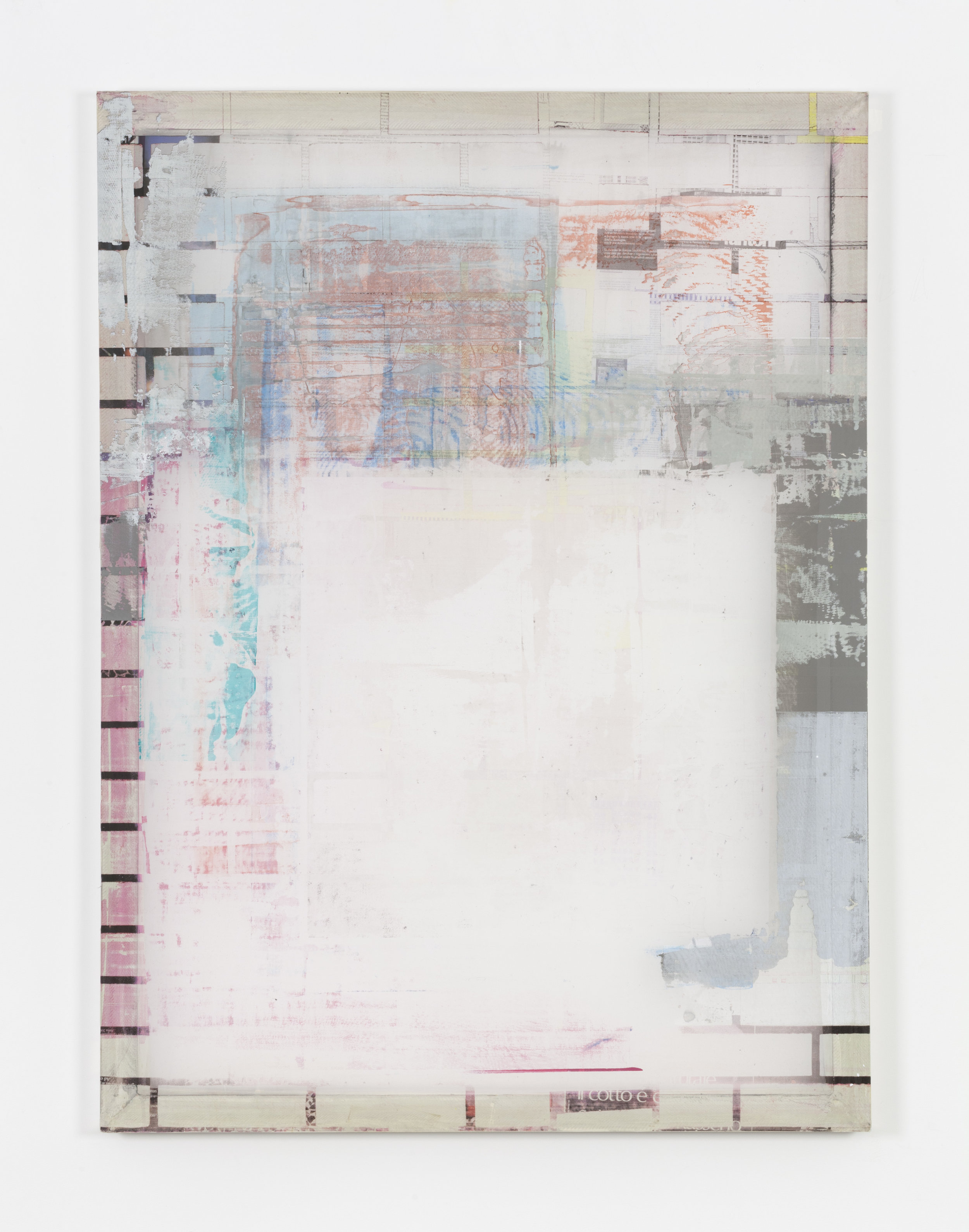 Kelley Walker,  Screen to screen 40 x 54_21, 2015, acrylic ink on silkscreen on aluminum frame, signed and dated verso,137,2 x 101,6 cm