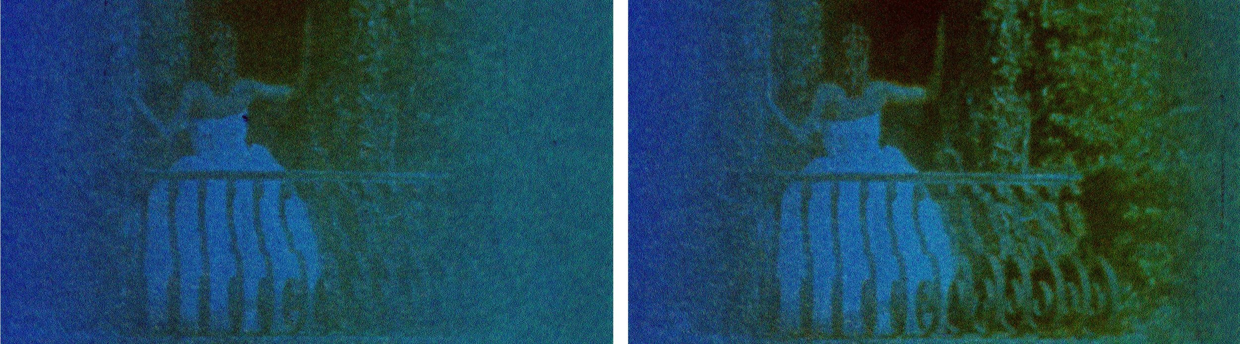 Catherine Sullivan, Triangle of need,  2008, «SVEMA TSO-50A 8 MM #1 », two C-Print, 24 x 40 inches (each image) / 60,96 x 101.6 cm