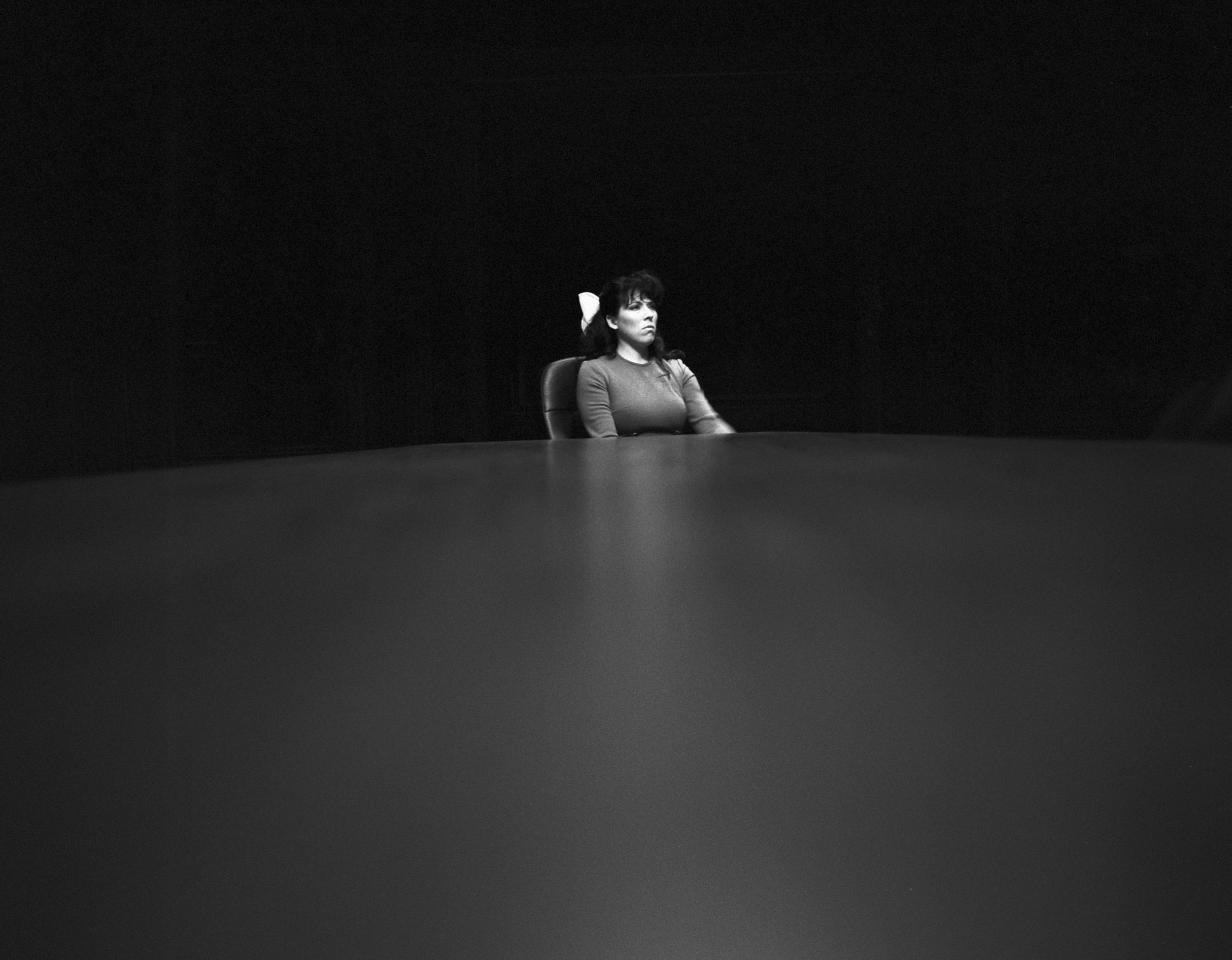 """Catherine Sullivan, Virtuous woman,  2005, black and white photography, 17 x 17"""" b/w, 43,18 x 43,18 cm, edition 4/6"""