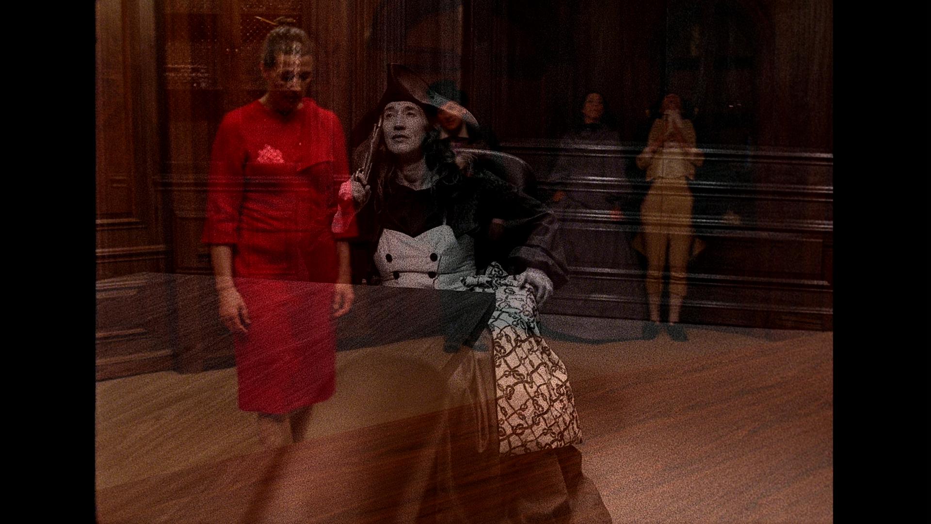Catherine Sullivan,  The Chittendens , 2005, 6 channel video installation transferred from 16mm film 2/4', Black & White/Colour, sound (16mm film stills)