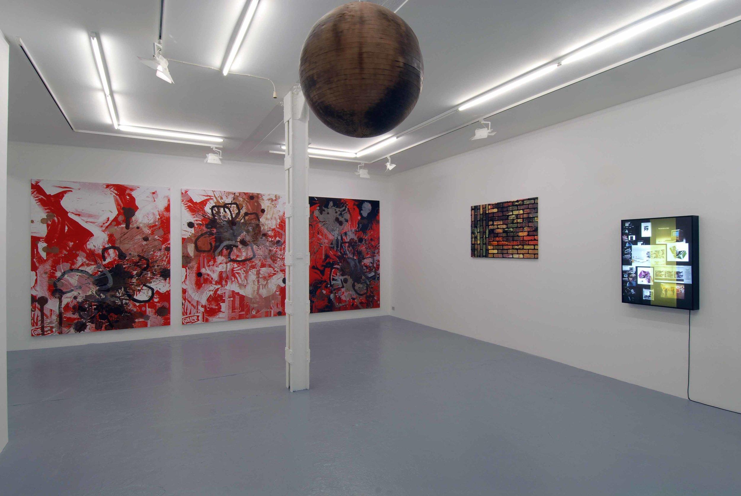 Kelley Walker, Catherine bastide gallery, Brussels, 2006, exhibition view