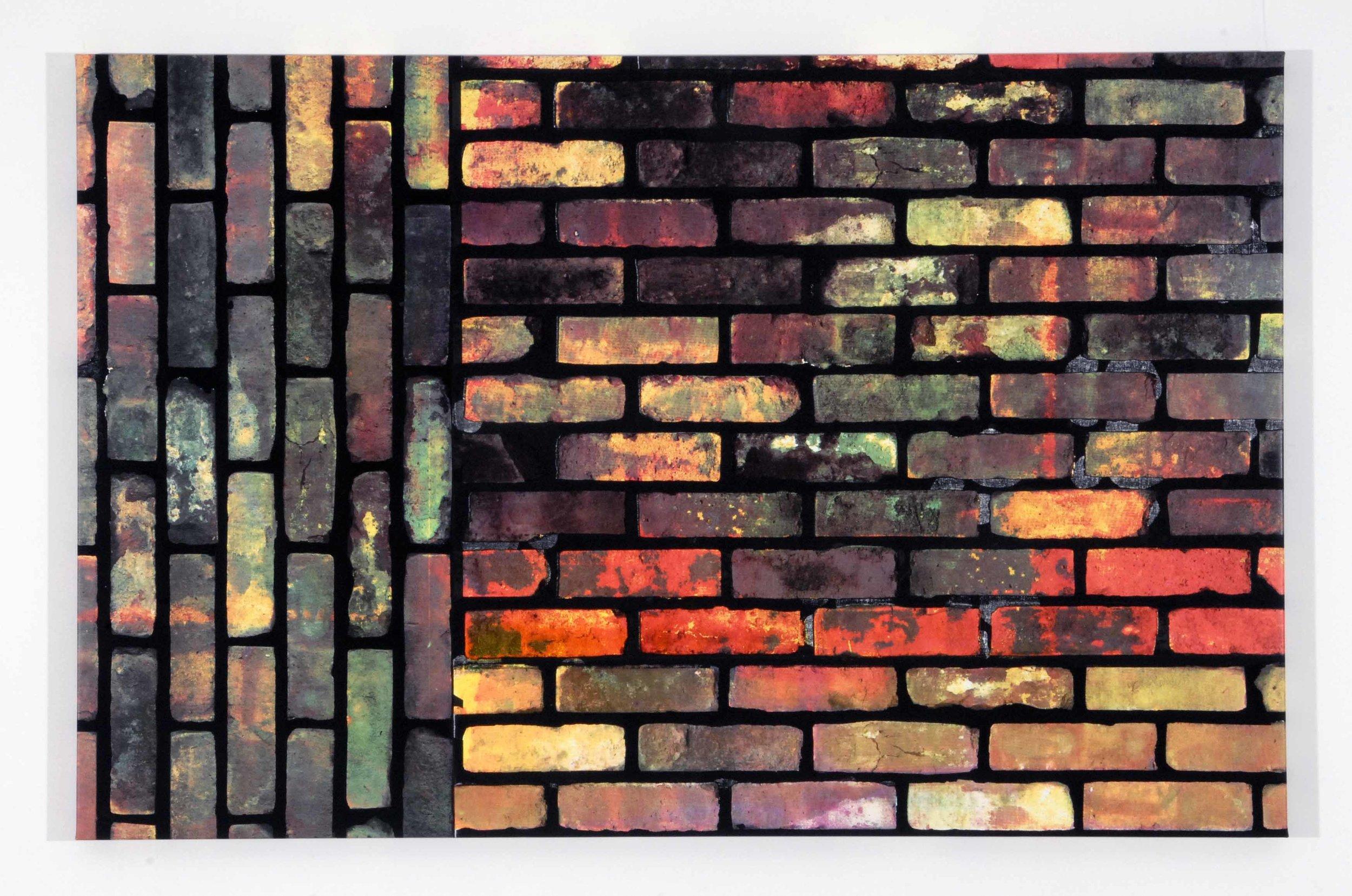 Kelley Walker , Untitled,  2006, four color process silkscreen on canvas, 146 x 94,5 cm