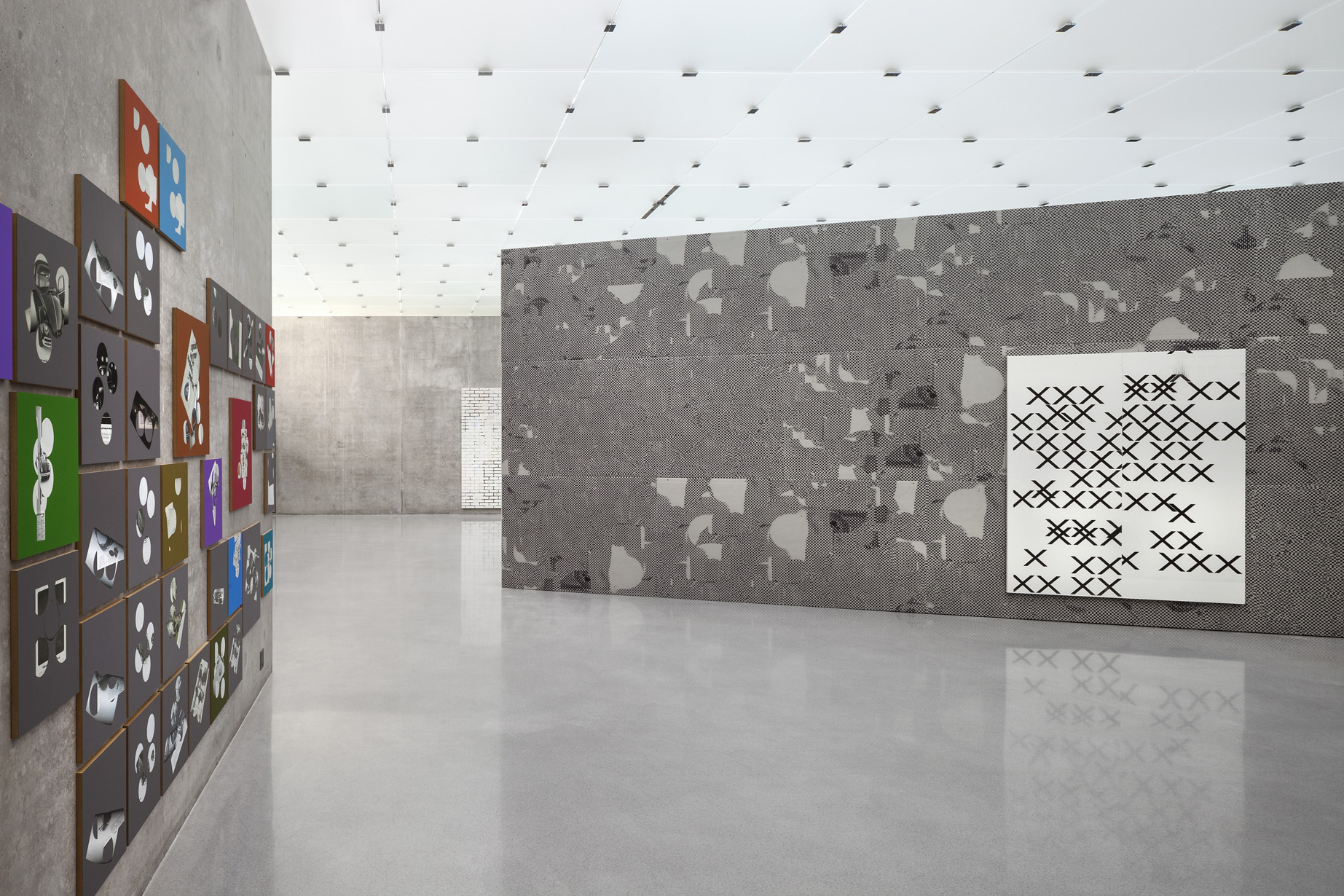 Wade Guyton, Guyton\Walker, Kelley Walker , Kunsthaus Bregenz, Austria, 2013, exhibition view