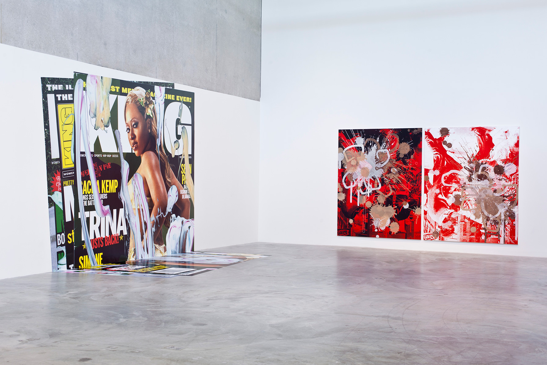 Kelley Walker : Direct Drive , CAM, St Louis, USA, 2016, exhibition view