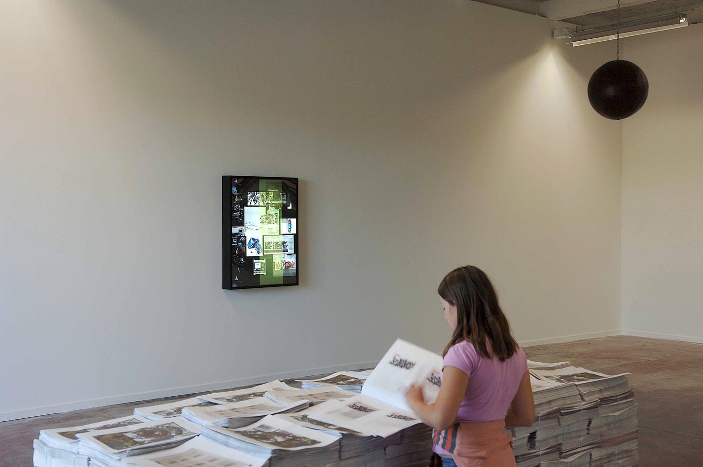 Kelley Walker, Biennale de Lyon, 2007,exhibition view