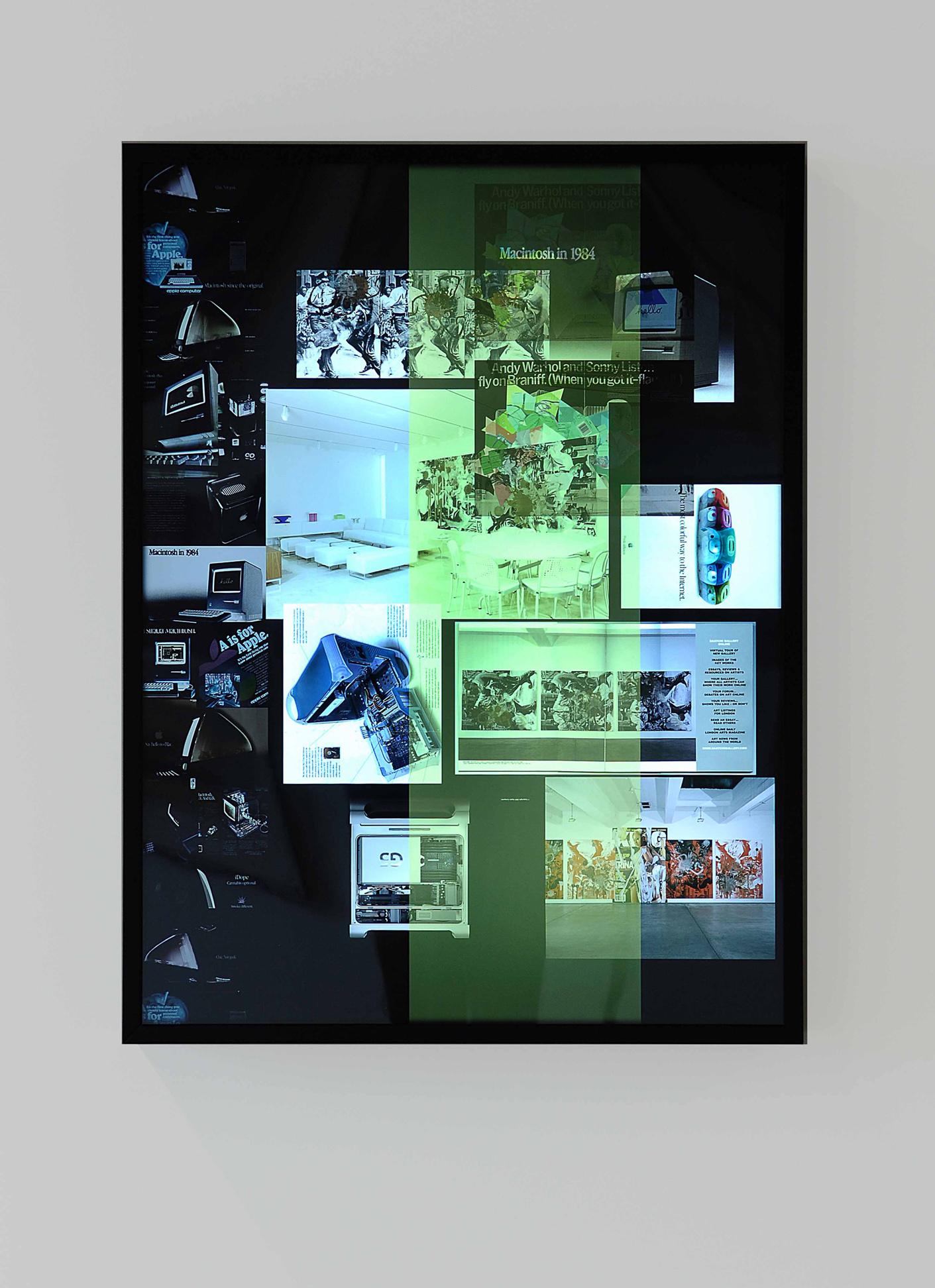 Kelley Walker,  Untitled , 2006, lightbox, 103 x 77 cm