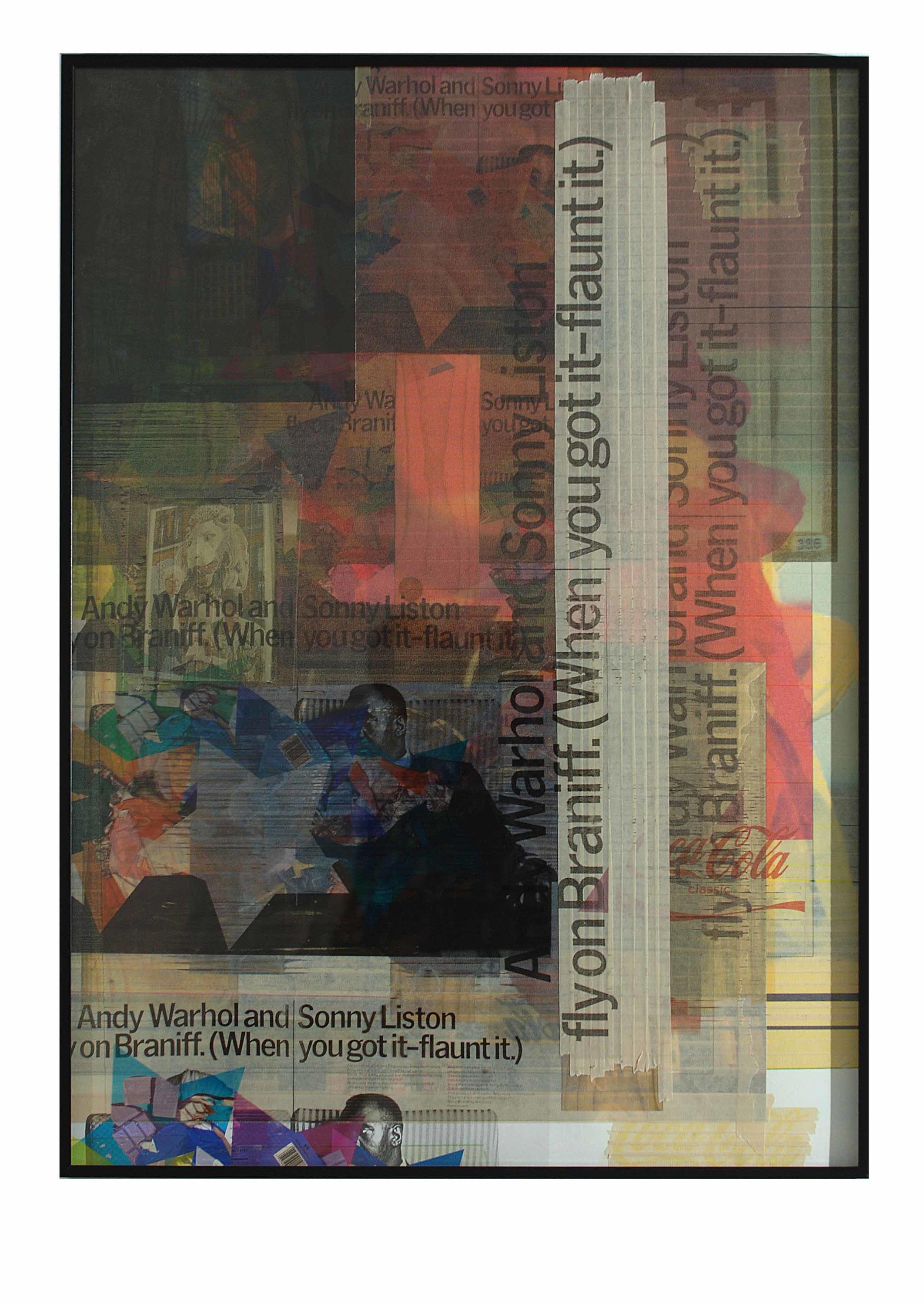 Kelley Walker,  Untitled Redux (Projet pour le Musée des Beaux-Arts, Nancy) , 2005, digital printing on newspaper, 24 sheets,98.7 x 71.1 cm
