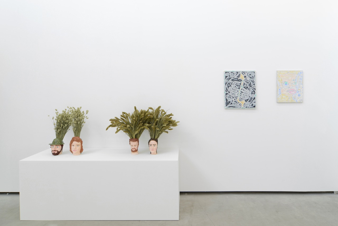 … / FOREVER YOUNG,Anna Mayer, David Caille, group show at Catherine Bastide gallery, Brussels, 2014, exhibition view