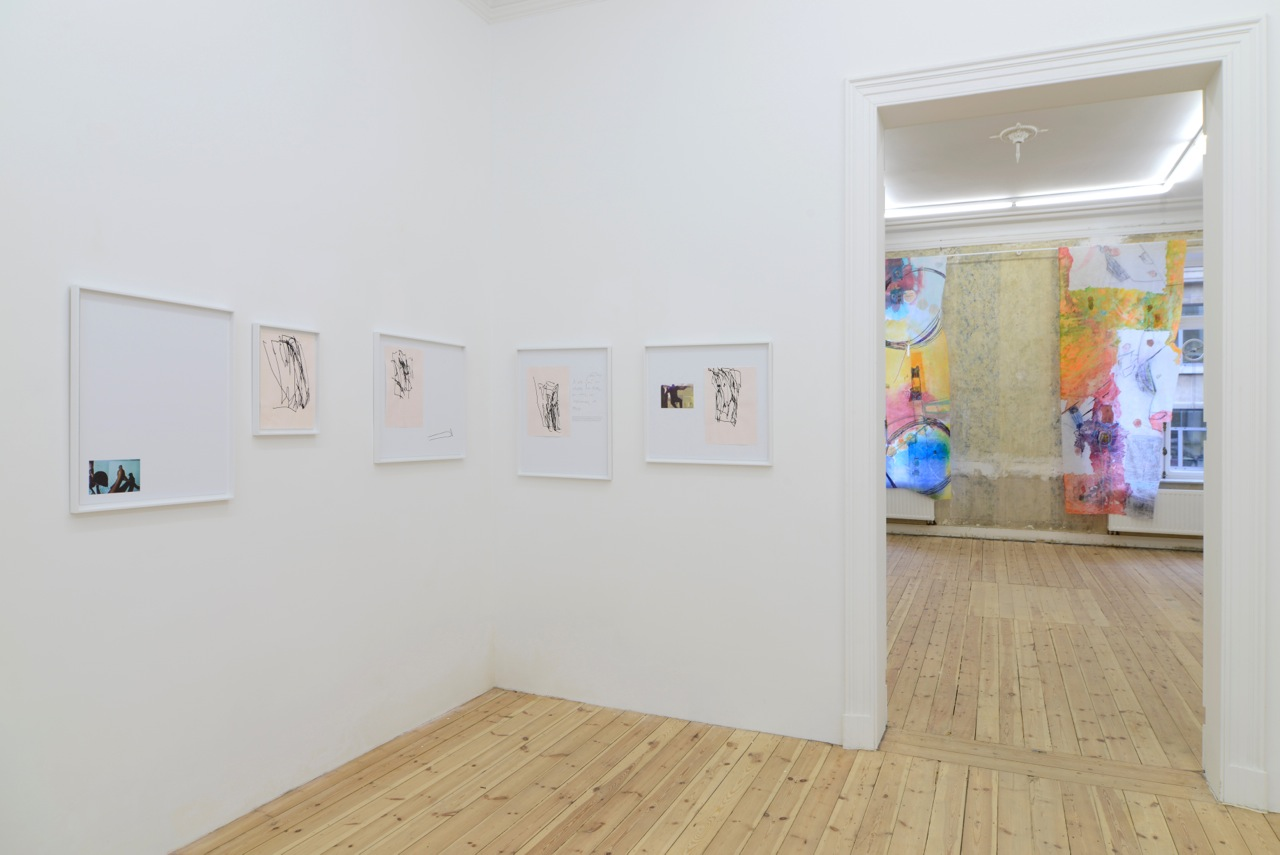 Nick Bastis,  Making Friends , two-person show at Catherine Bastide gallery, Brussels, 2014, exhibition view