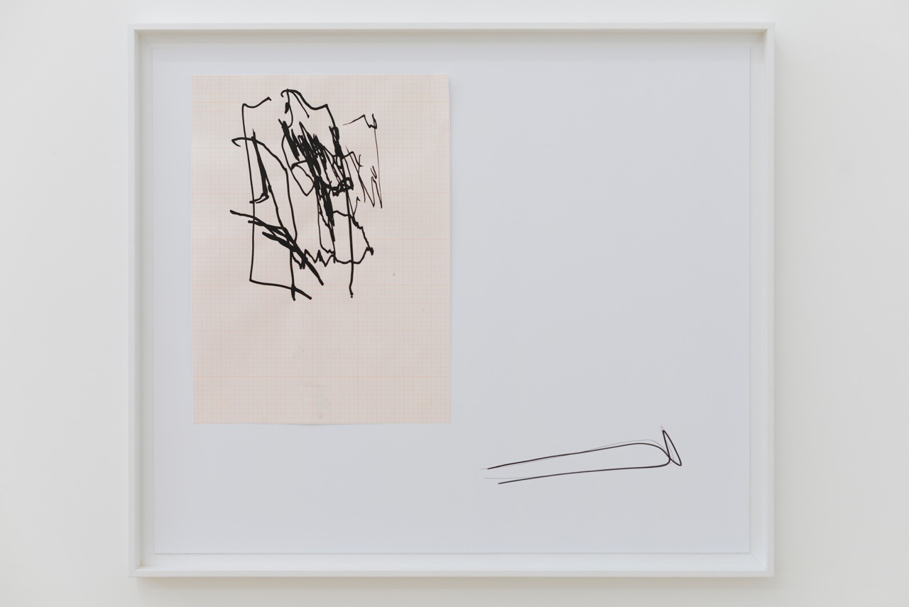 Nick Bastis,  Elbows drawings (Storefront) , 2014, acrylic on graph paper, pencil and archival prints, 66cmx55cm