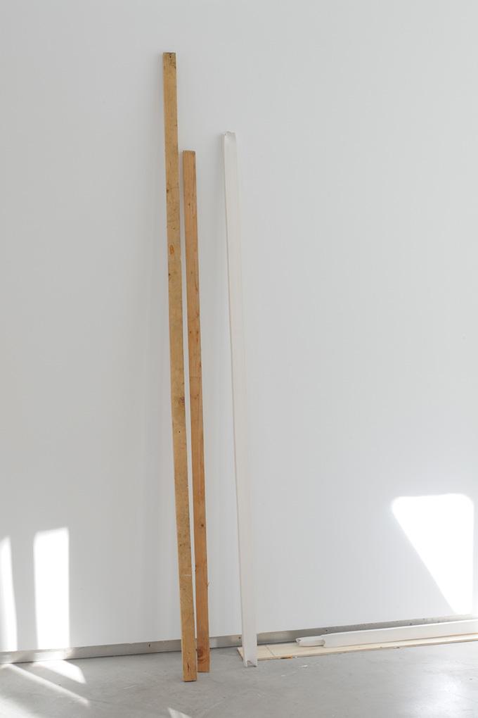 Manuel Burgener,  Untitled,  2013, wood, porcelain, dimensions variable