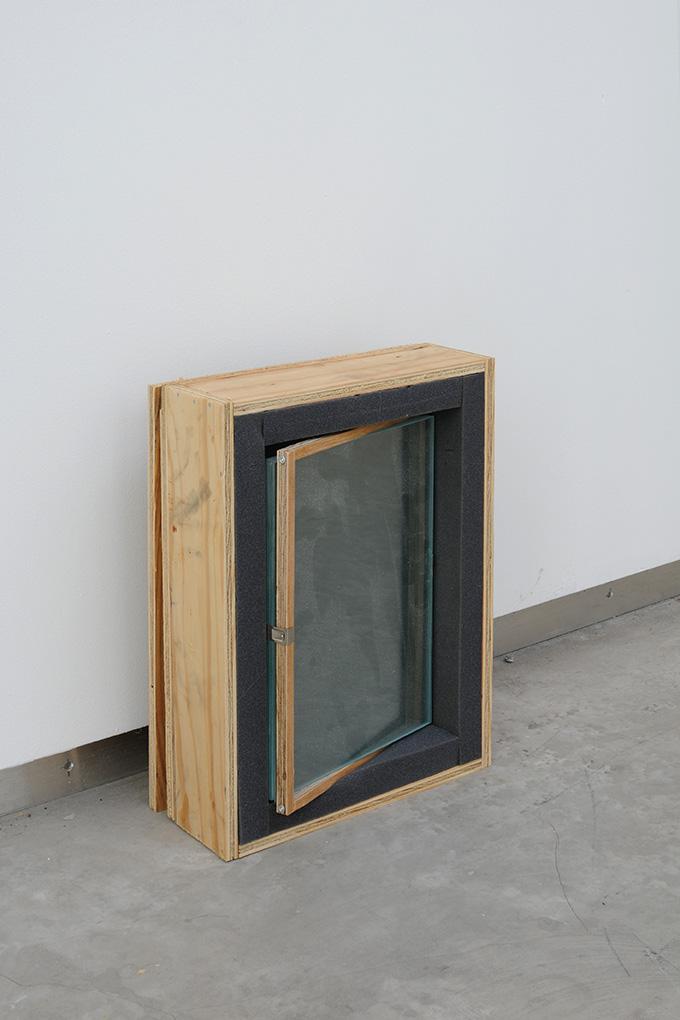 Manuel Burgener,  Untitled , 2013, plywood, glass, foam, screws,nails, clips, dimensions variable, edition 1/4 + 1ap