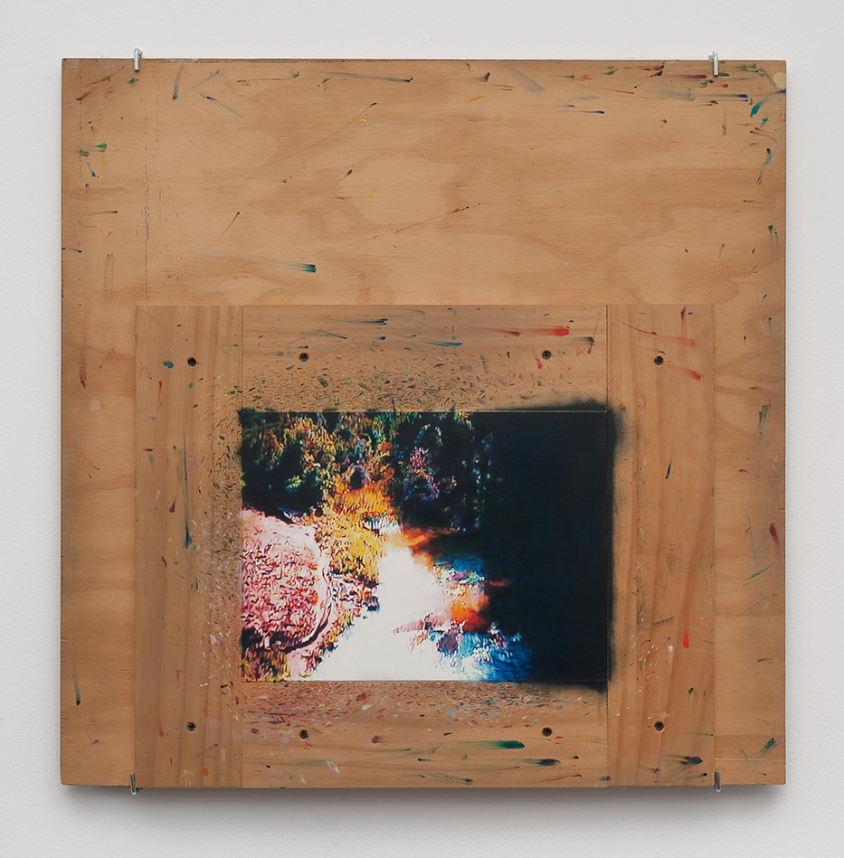 Creek, 2010, o il and gesso on plexiglas, 61 x 61 cm