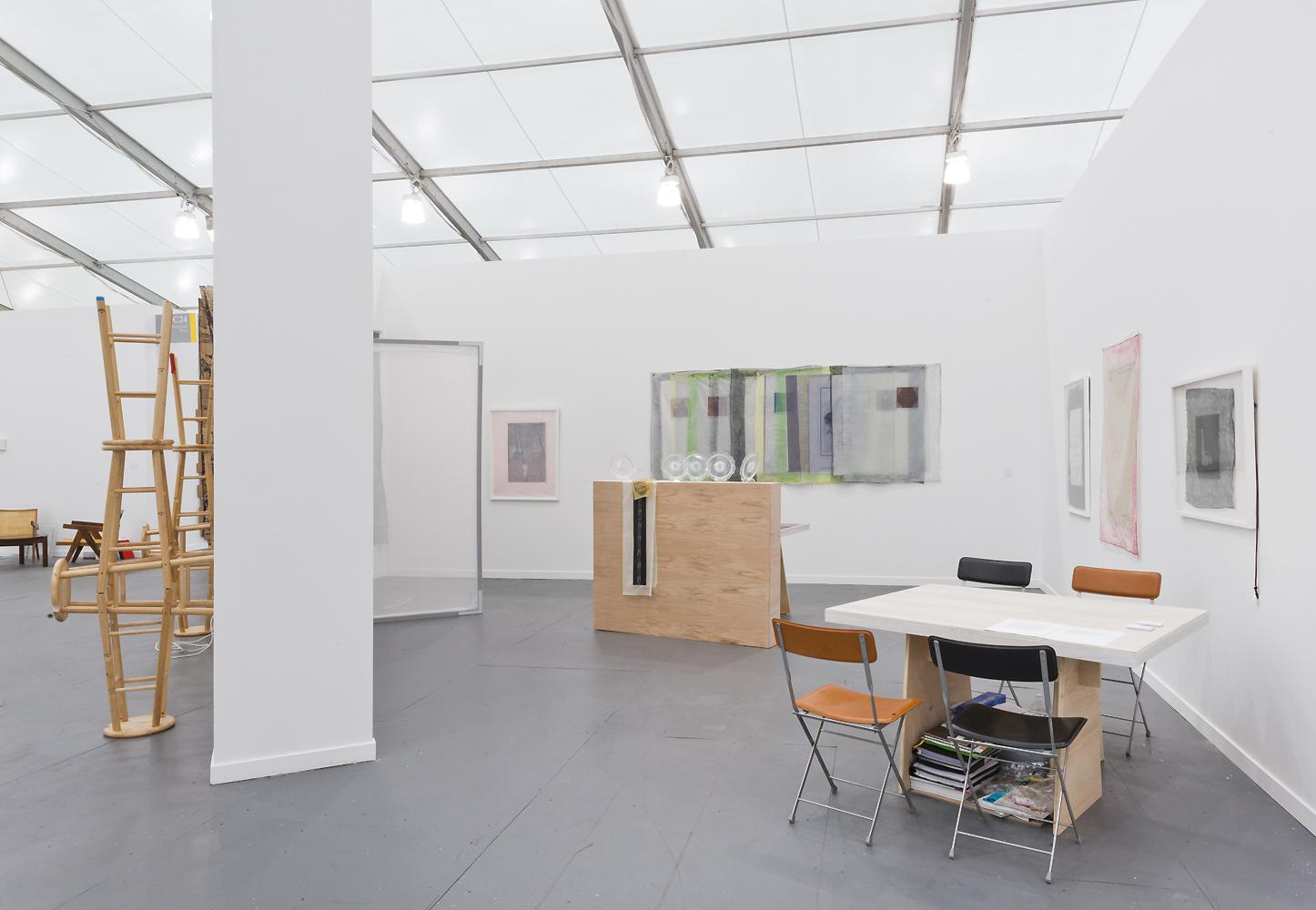 Valerie Snobeck & Catherine Sullivan,  Limited Good 3 ,Galerie Catherine Bastide, Frieze New York, 2013, installation view