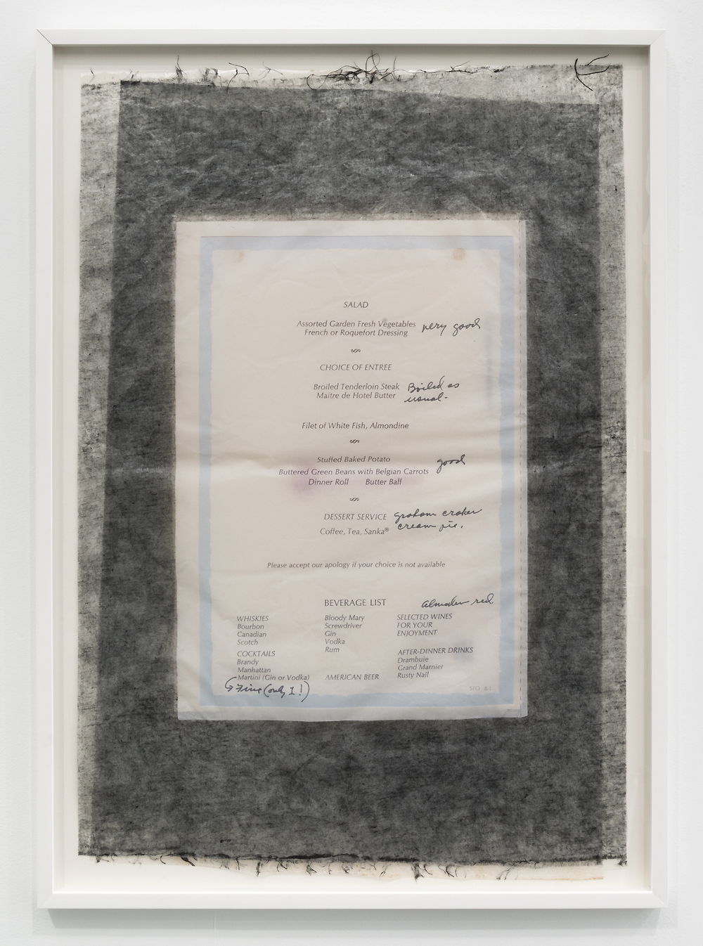 Valerie Snobeck / Catherine Sullivan,  Limited Good 7,  2013, peeled prints and linen on plastic, 43.4 x 31.2 inch framed