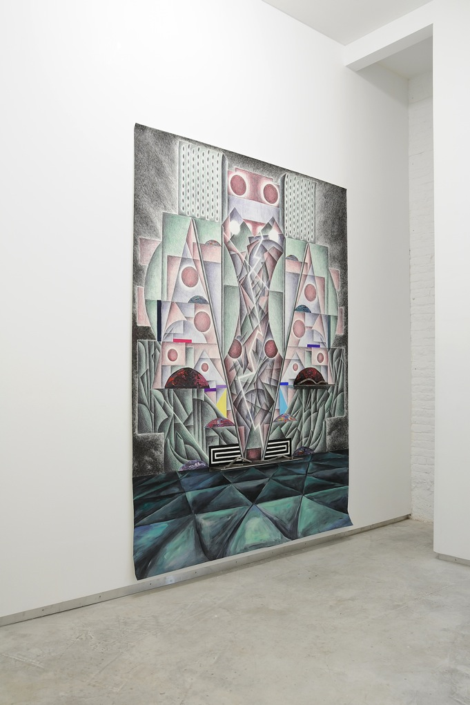 Alexandros Tzannis,  Electric Dream , 2011, mixed media on paper, 290 x 200 cm