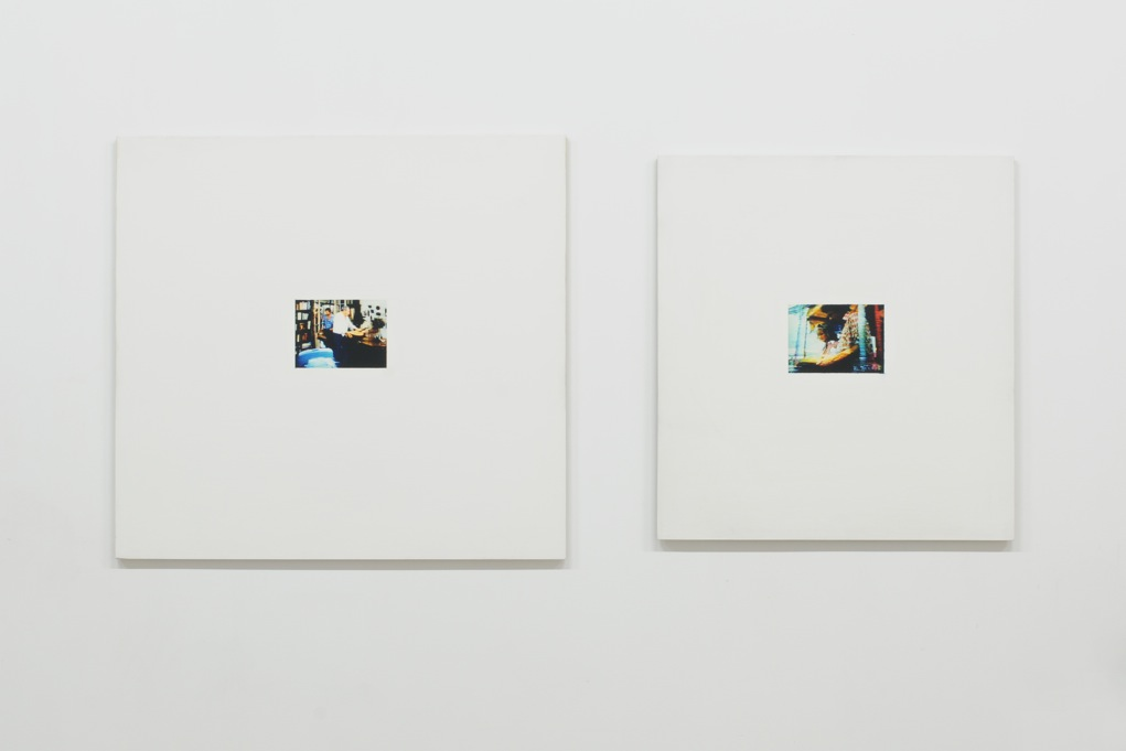 Ed Johnson,  Untitled (from the Optimist's Park series) , 2005, oil and gesso on plexiglas, 17,8 x 12,7 cm each