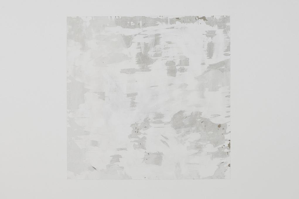Julien Bismuth,  Abimes , 2009, paint remover, 100 x 100 cm