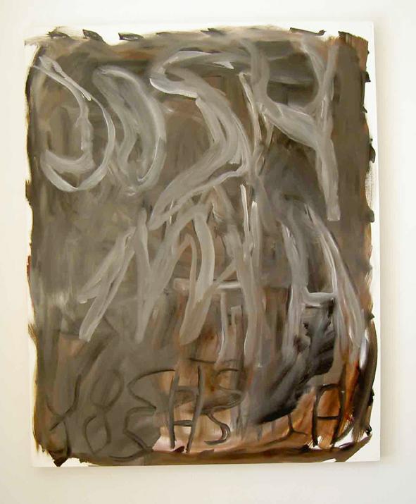 Josh Smith,  Untitled,  2003,oil on canvas, 59,8 x 48 inch (152 x 122 cm)