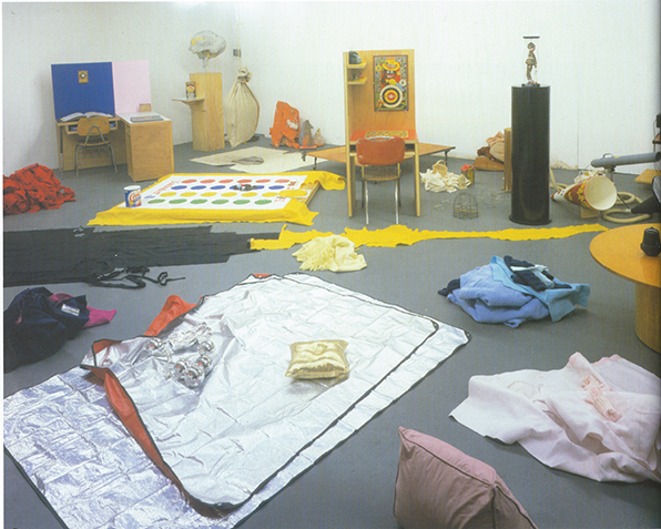 Mike Kelley,  Categorical Imperative,  1999, studio view