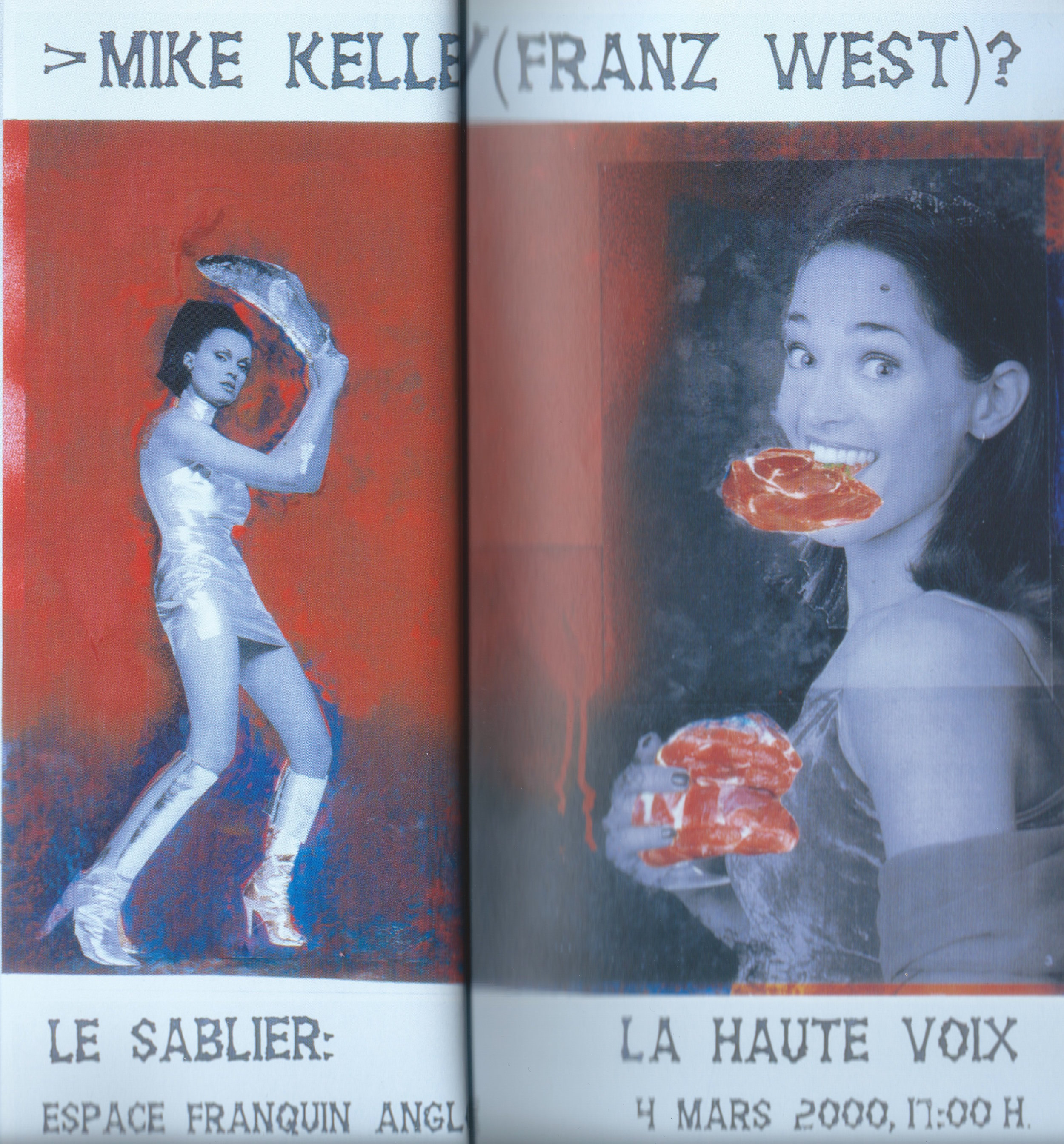 Franz West,  Untitled  (poster design, Angoulême), 2000