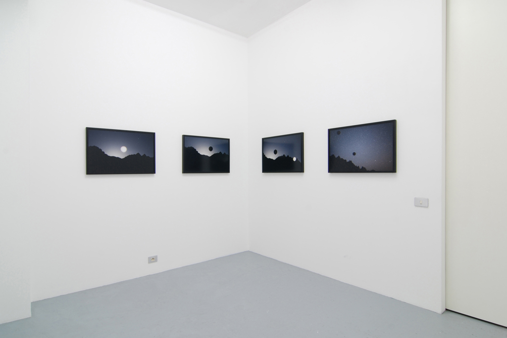 Janaina Tschäpe,  Eclipse , 2009, c-print, 50,8 x 76,2 cm, exhibition view