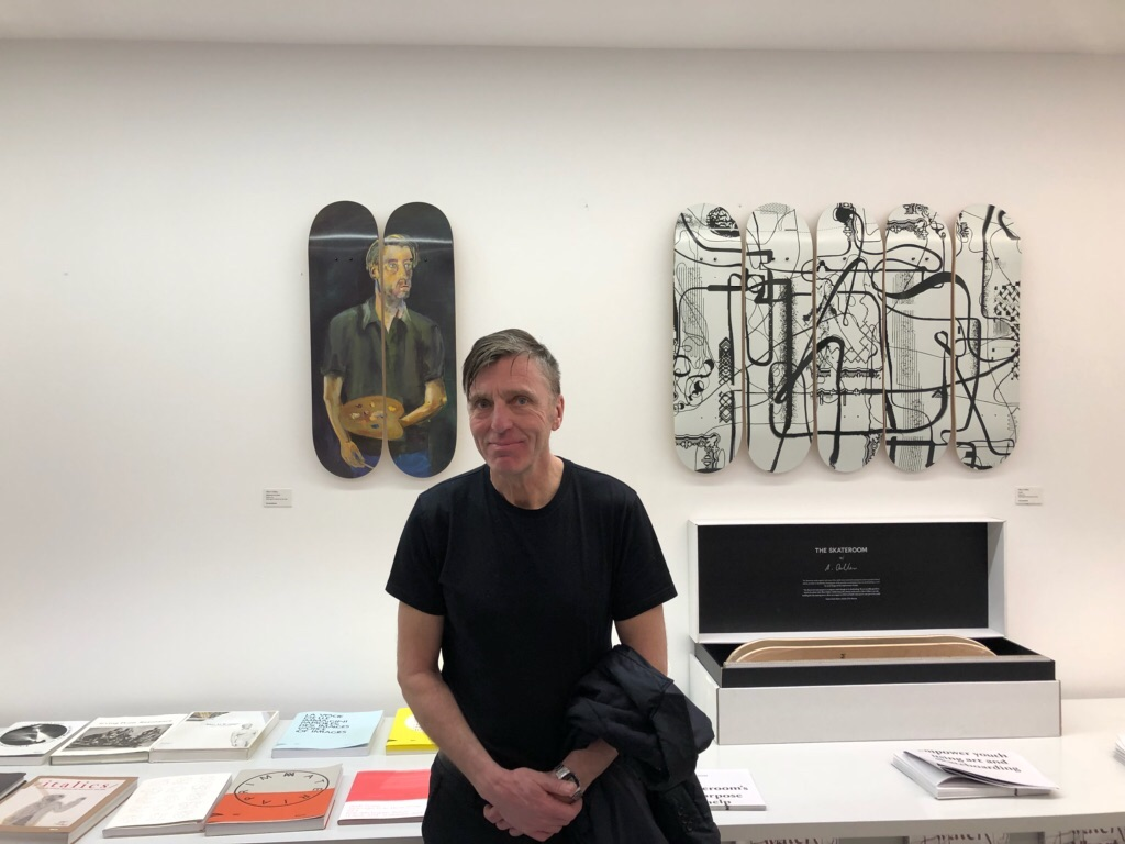 Albert Oelhen and his skateboards editions at Palazzo Grassi, 2018