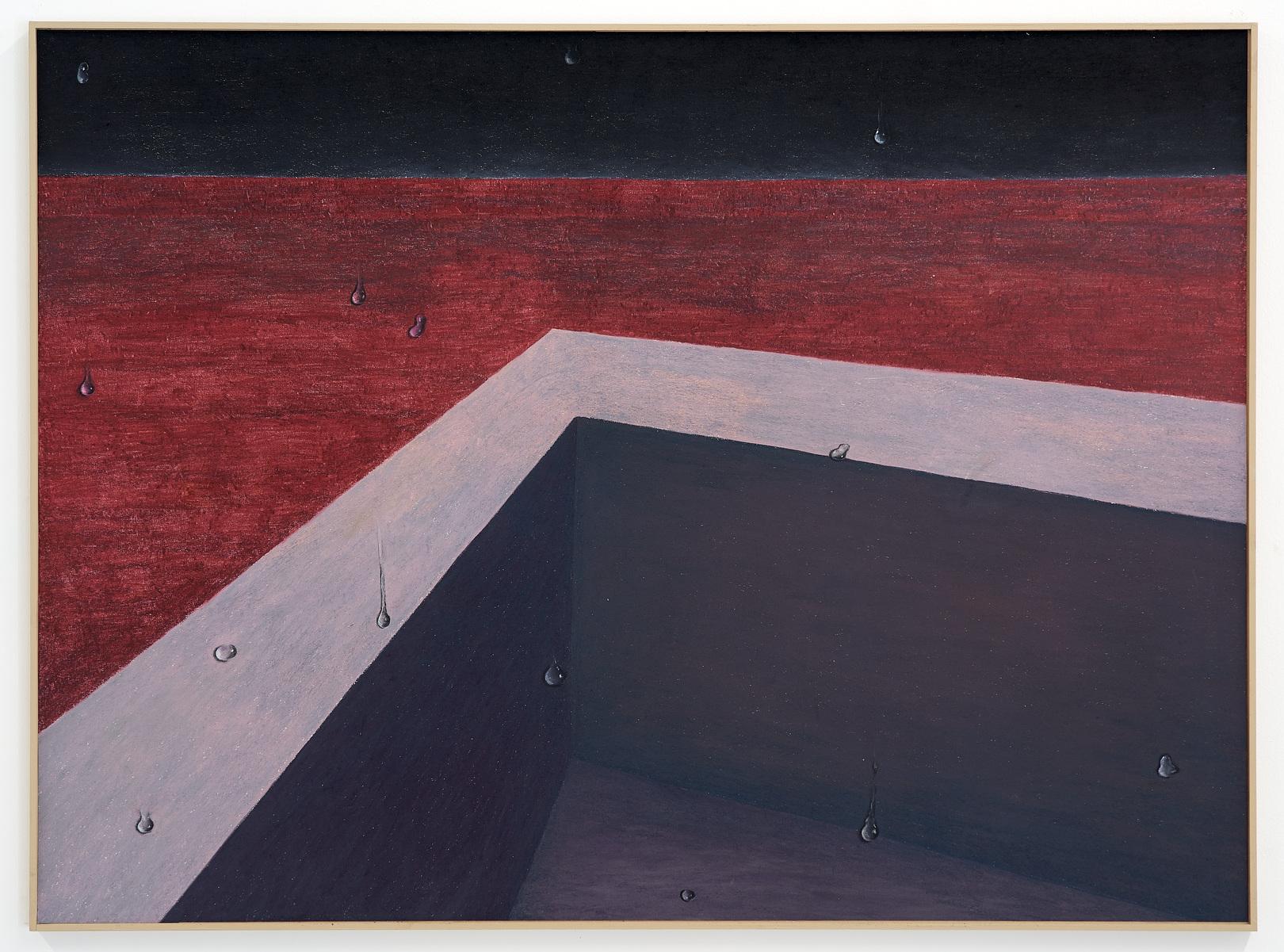 Gijs Milius,  Sans titre , 2018, Techniques mixtes, 105 x 77 cm. ©D.Giancatarina